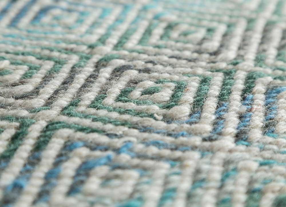 kaross ivory wool flat weaves Rug - CloseUp