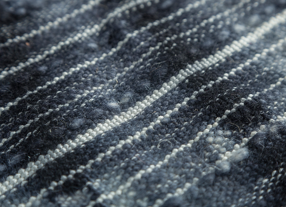 indusbar ivory wool and viscose flat weaves Rug - CloseUp