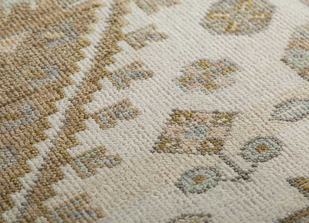 liberty ivory wool hand knotted Rug - CloseUp