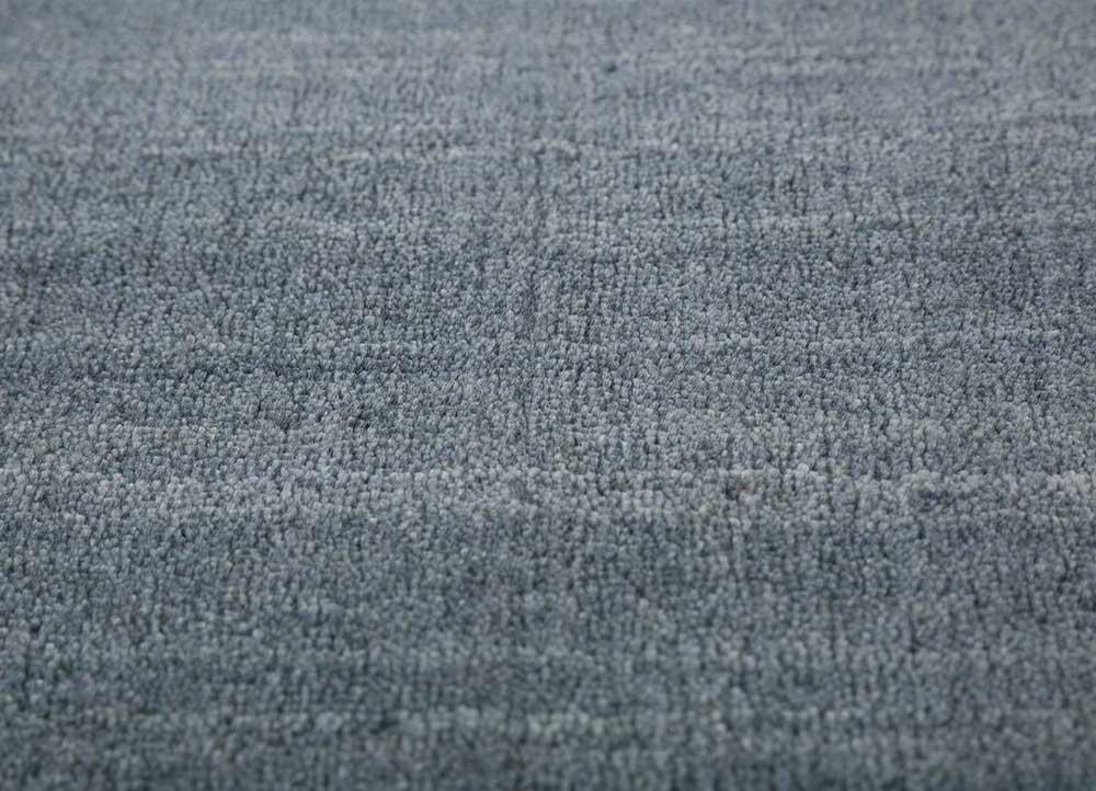 tesoro blue wool and viscose hand loom Rug - CloseUp