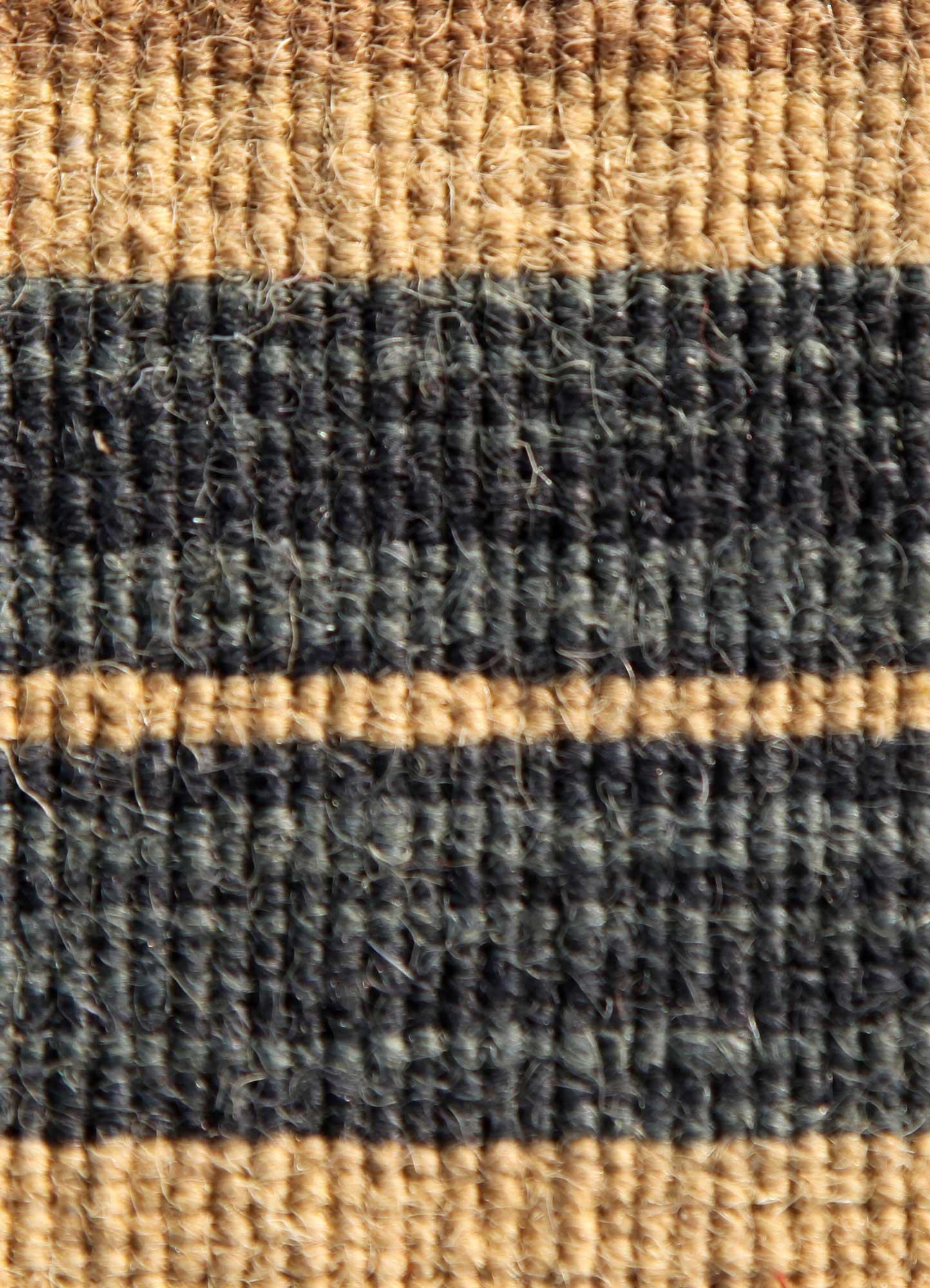 aqua gold wool flat weaves Rug - CloseUp