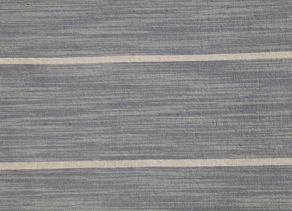 aqua grey and black wool flat weaves Rug - CloseUp
