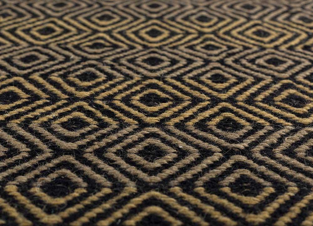 kaross multi wool flat weaves Rug - CloseUp