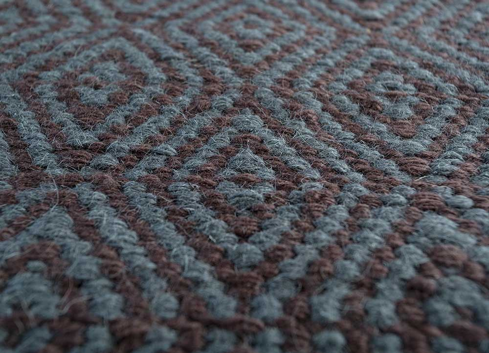 indusbar multi wool flat weaves Rug - CloseUp