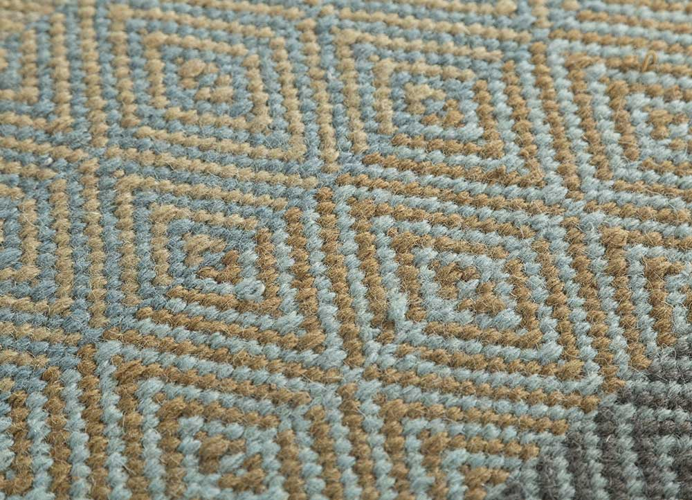 kaross gold wool flat weaves Rug - CloseUp