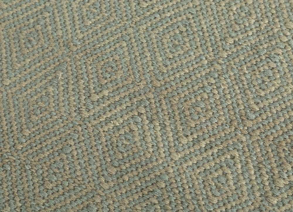 kaross blue wool flat weaves Rug - CloseUp