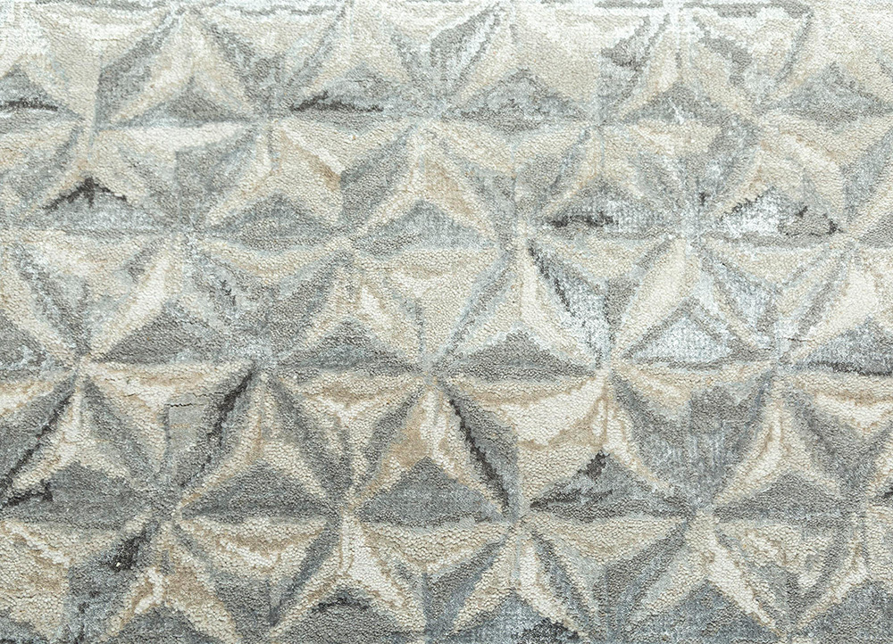 free verse by kavi ivory wool and bamboo silk hand knotted Rug - CloseUp