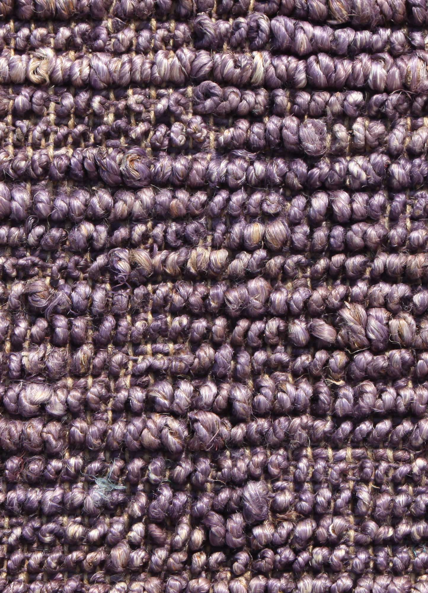 abrash pink and purple jute and hemp flat weaves Rug - CloseUp