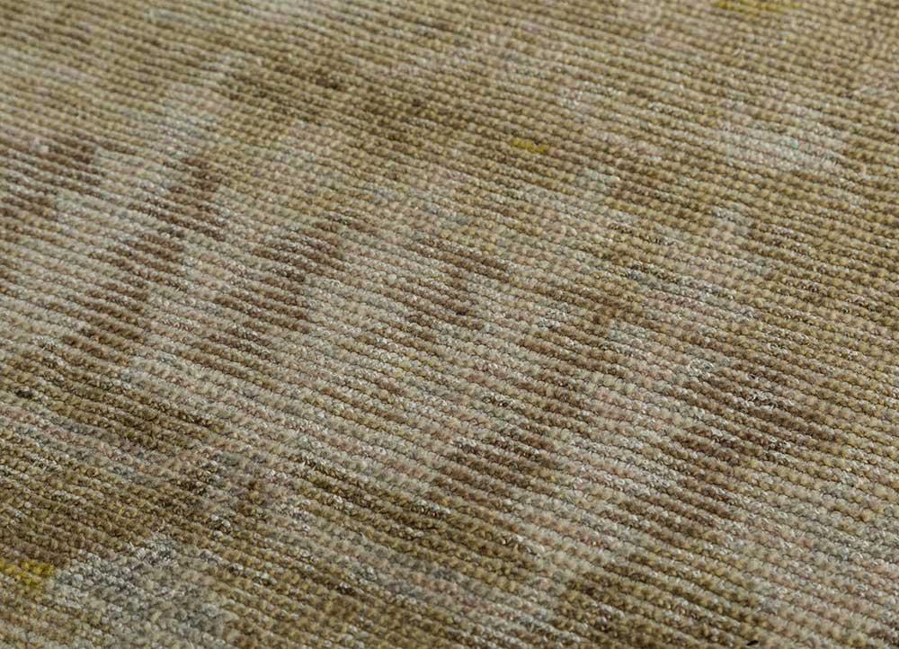 viscaya gold wool hand knotted Rug - CloseUp