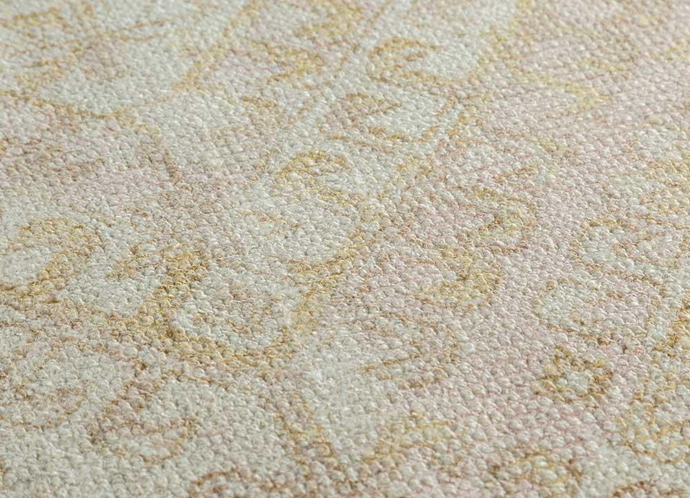 oxford ivory wool and bamboo silk hand loom Rug - CloseUp