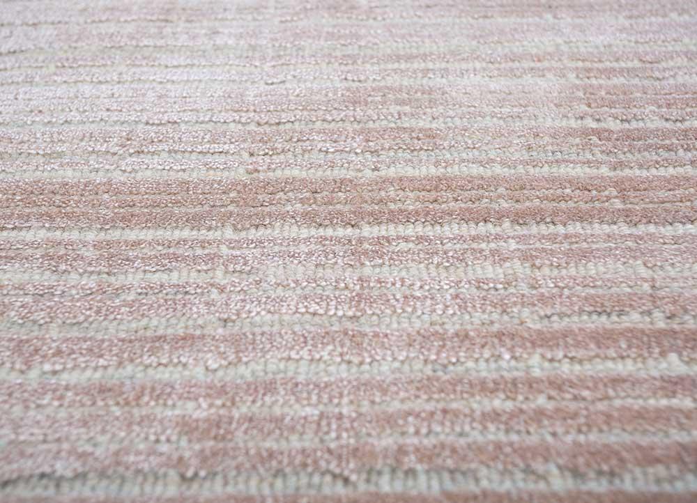 oxford pink and purple wool hand loom Rug - CloseUp