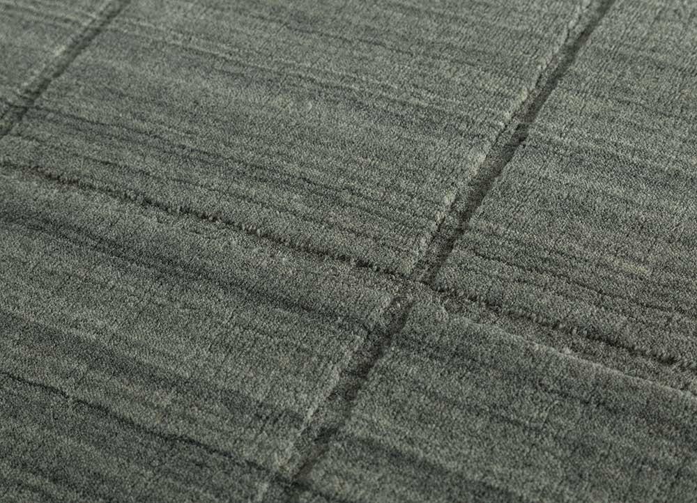graze beige and brown wool hand loom Rug - CloseUp