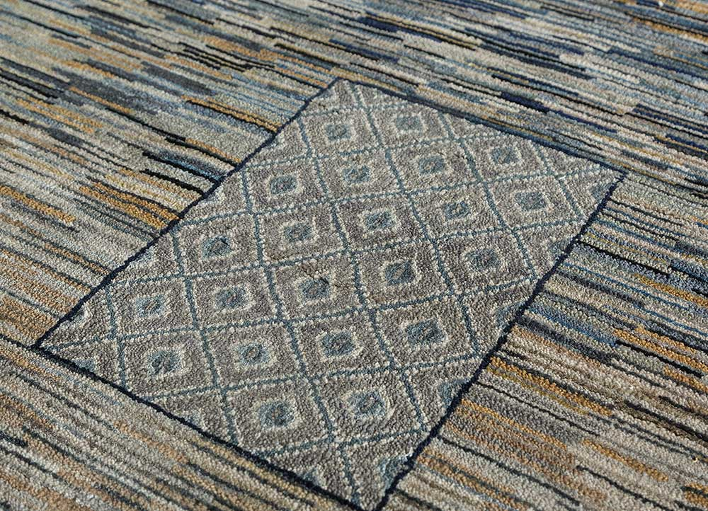 freedom manchaha ivory wool and bamboo silk hand knotted Rug - CloseUp