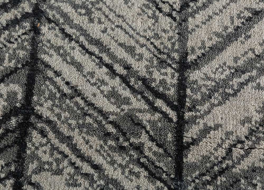 geode ivory wool and bamboo silk hand knotted Rug - CloseUp