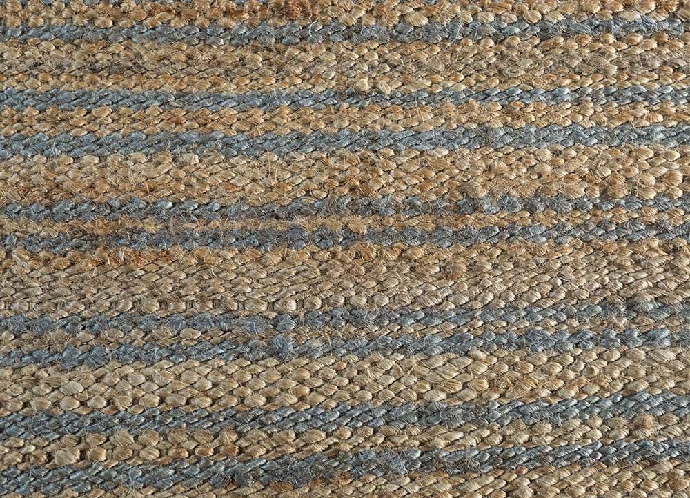 spatial red and orange jute and hemp jute rugs Rug - CloseUp
