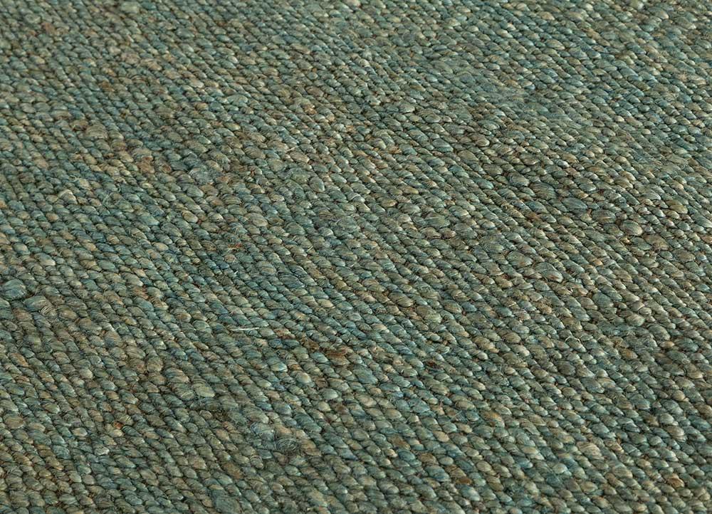 abrash blue jute and hemp flat weaves Rug - CloseUp