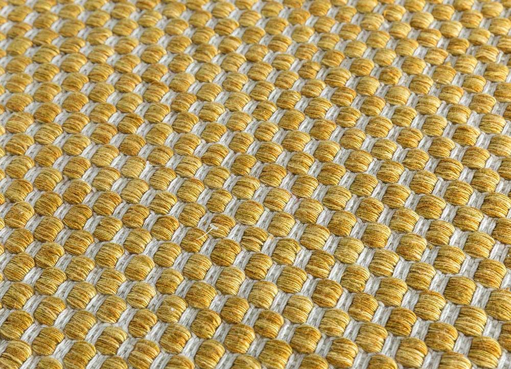 abrash gold polyester flat weaves Rug - CloseUp