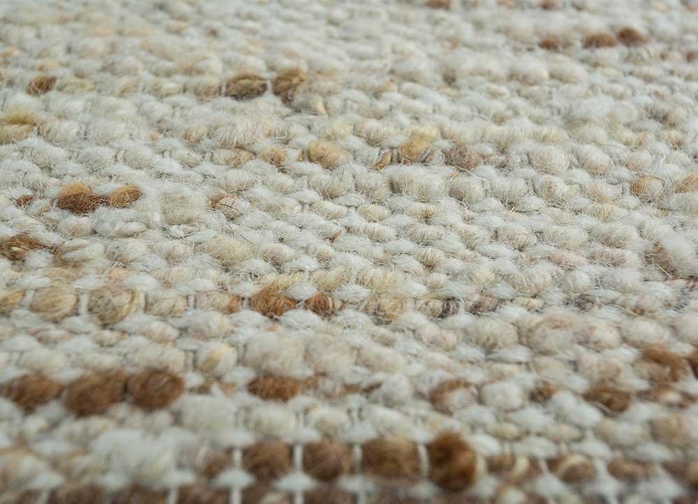 abrash ivory wool flat weaves Rug - CloseUp
