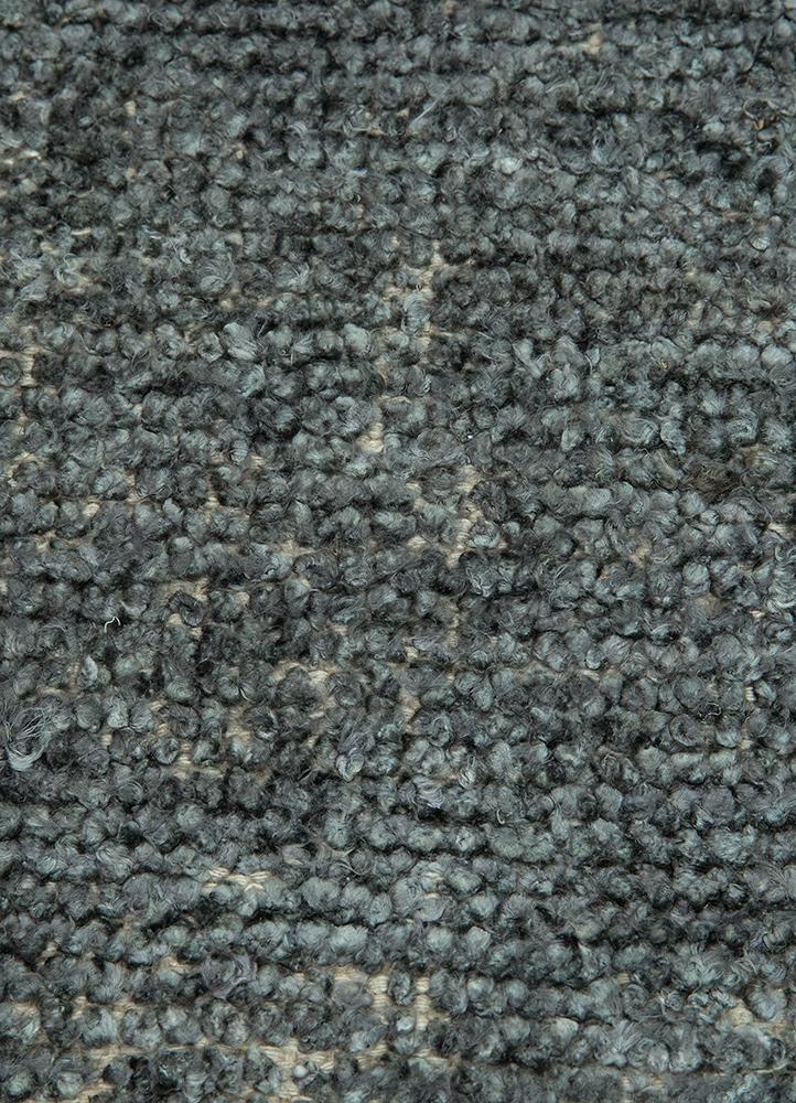 anatolia grey and black viscose flat weaves Rug - CloseUp