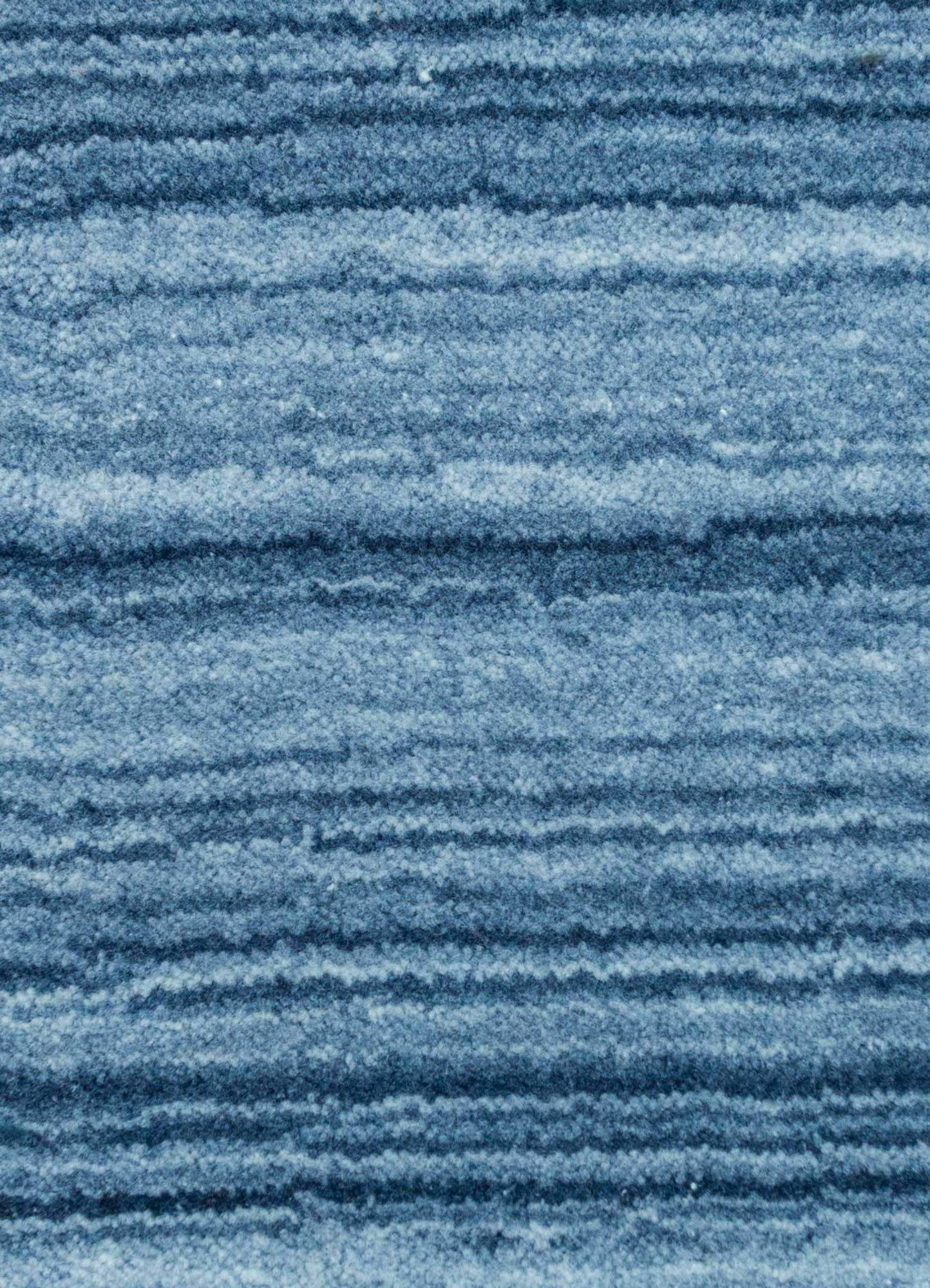 tesoro blue polyester hand loom Rug - CloseUp