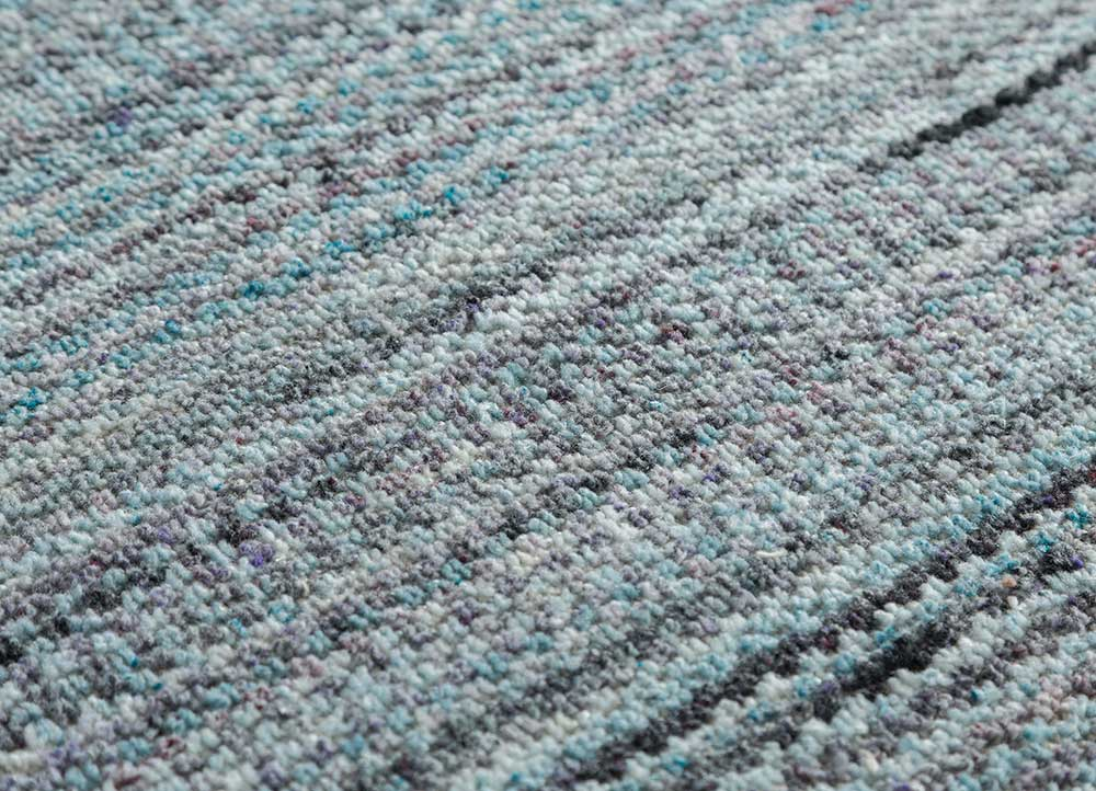 eron blue others hand loom Rug - CloseUp