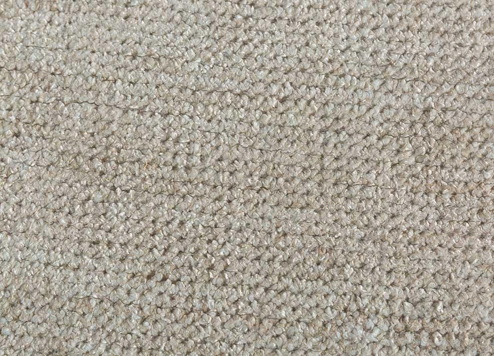 outdoor beige and brown viscose hand loom Rug - CloseUp
