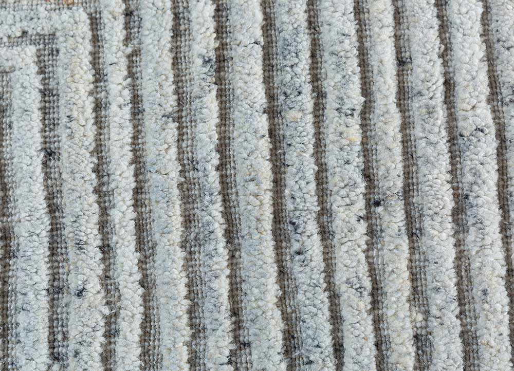 graze ivory viscose hand loom Rug - CloseUp