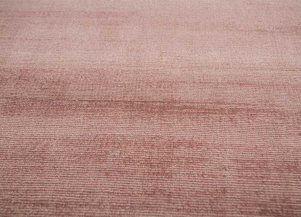 yasmin red and orange viscose hand loom Rug - CloseUp