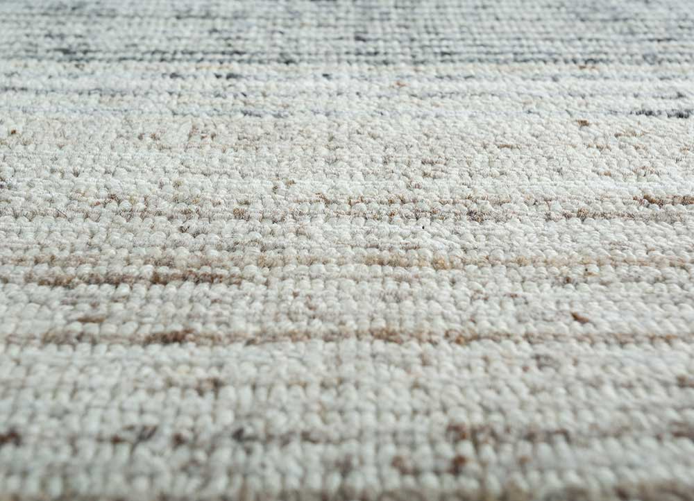 tesoro ivory wool hand loom Rug - CloseUp