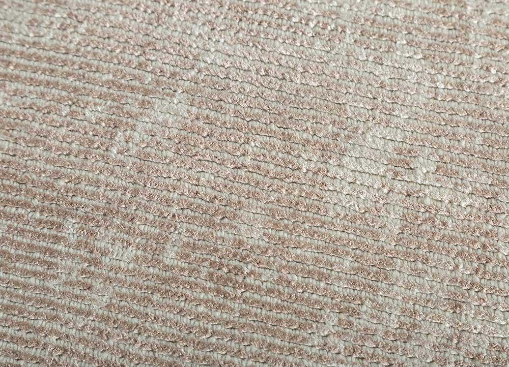 acar pink and purple wool and viscose hand loom Rug - CloseUp