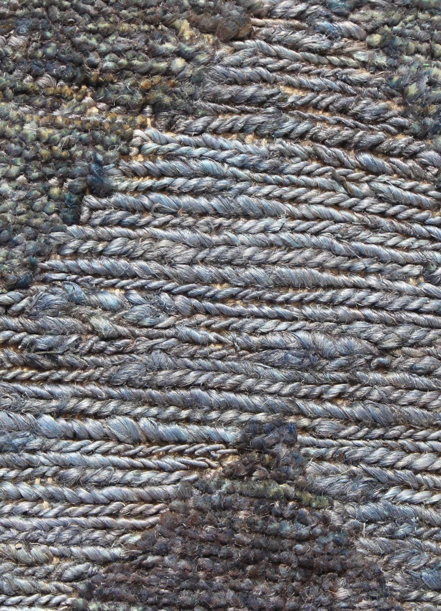 anatolia blue jute and hemp jute rugs Rug - CloseUp