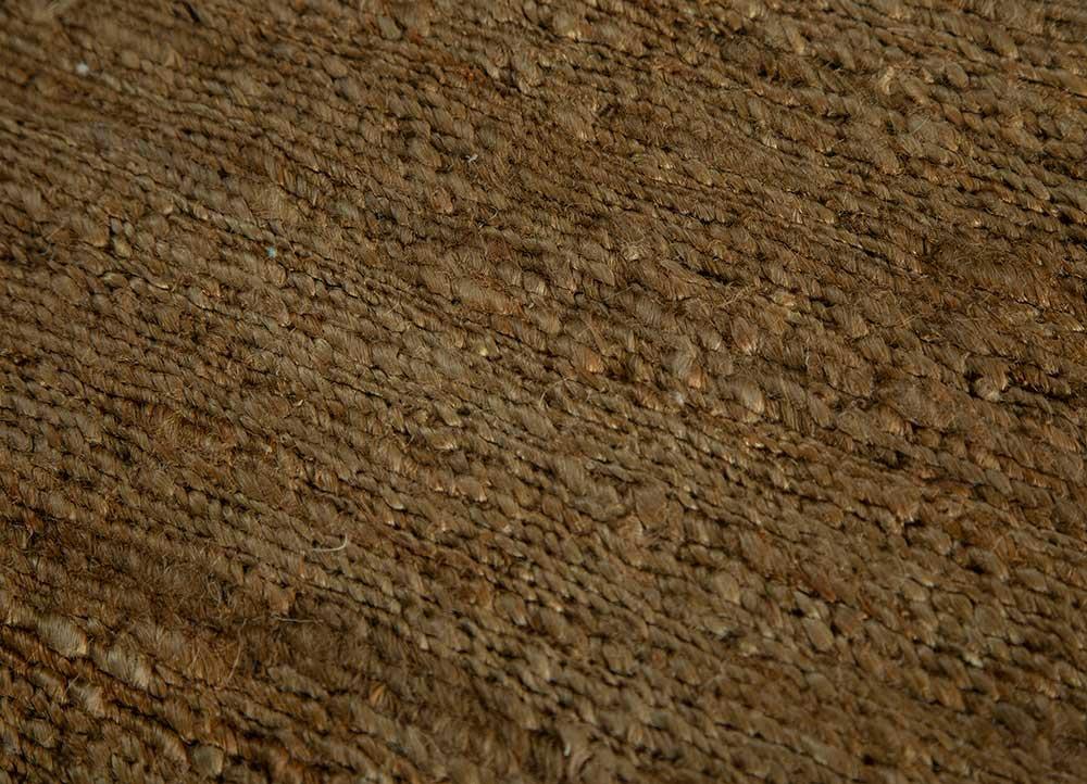 abrash beige and brown jute and hemp jute rugs Rug - CloseUp