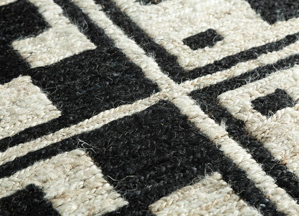 spatial ivory jute and hemp flat weaves Rug - CloseUp