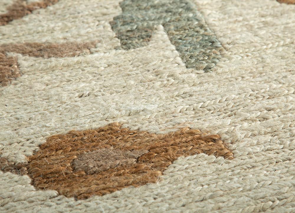 heritage ivory jute and hemp jute rugs Rug - CloseUp