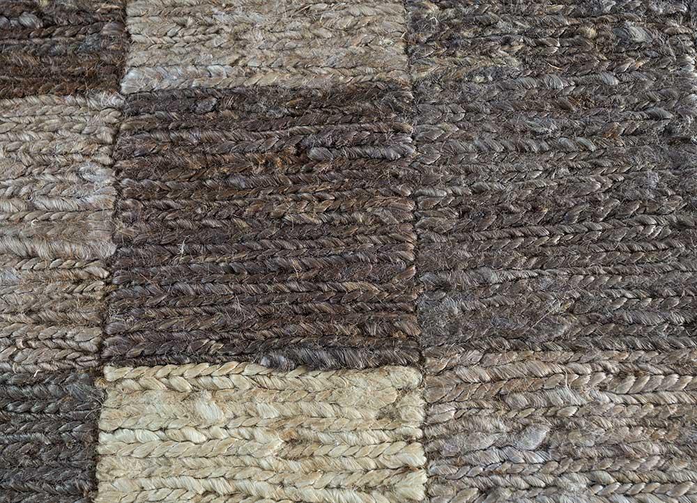 anatolia grey and black jute and hemp jute rugs Rug - CloseUp