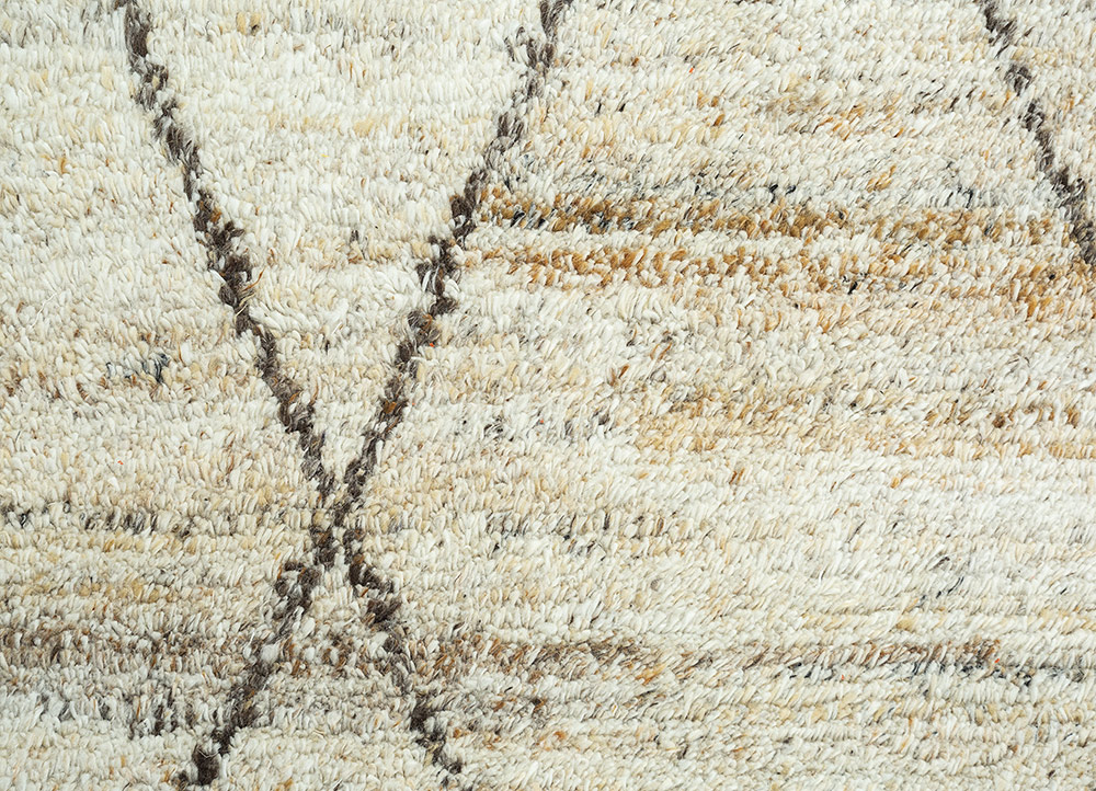 zuri ivory polyester hand knotted Rug - CloseUp