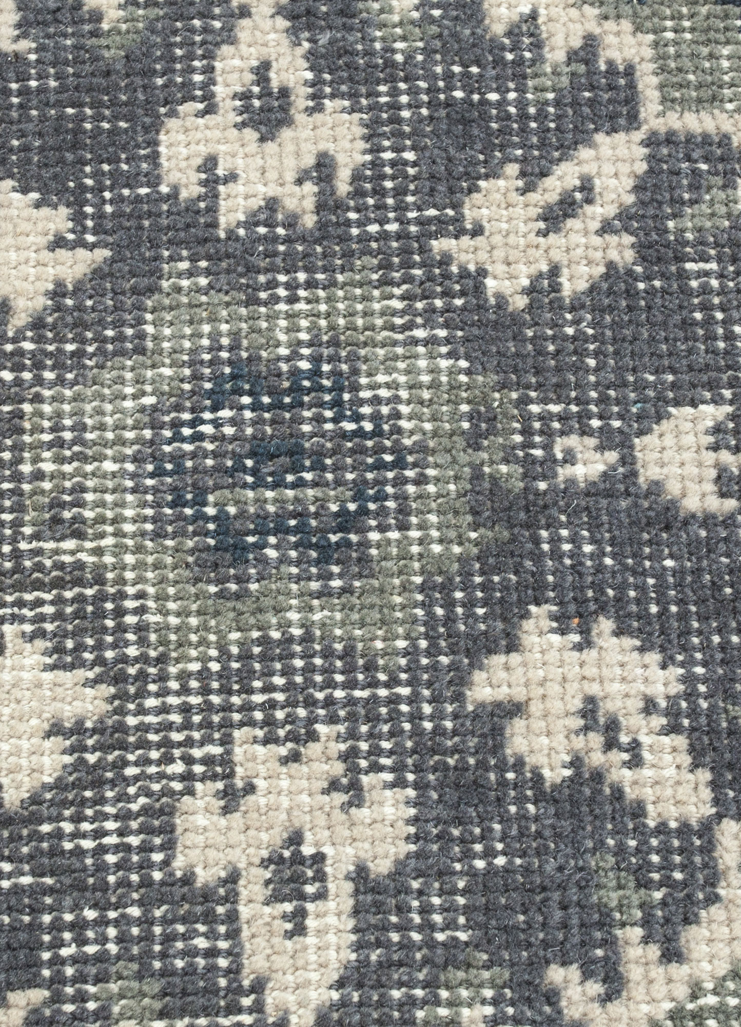 revolution beige and brown wool hand knotted Rug - CloseUp