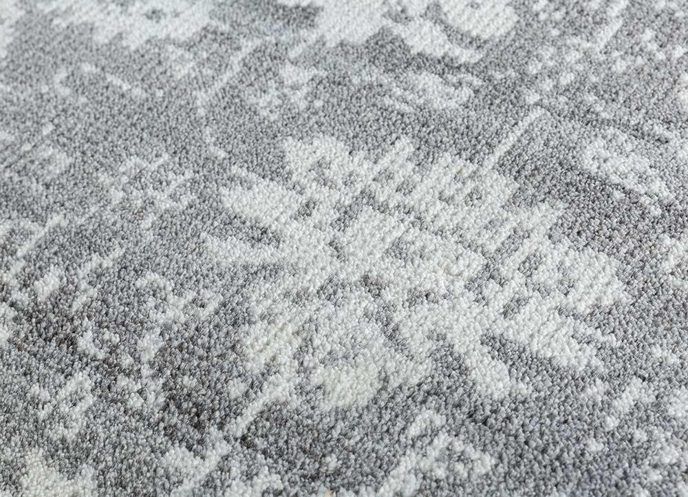 eden ivory wool and viscose hand knotted Rug - CloseUp