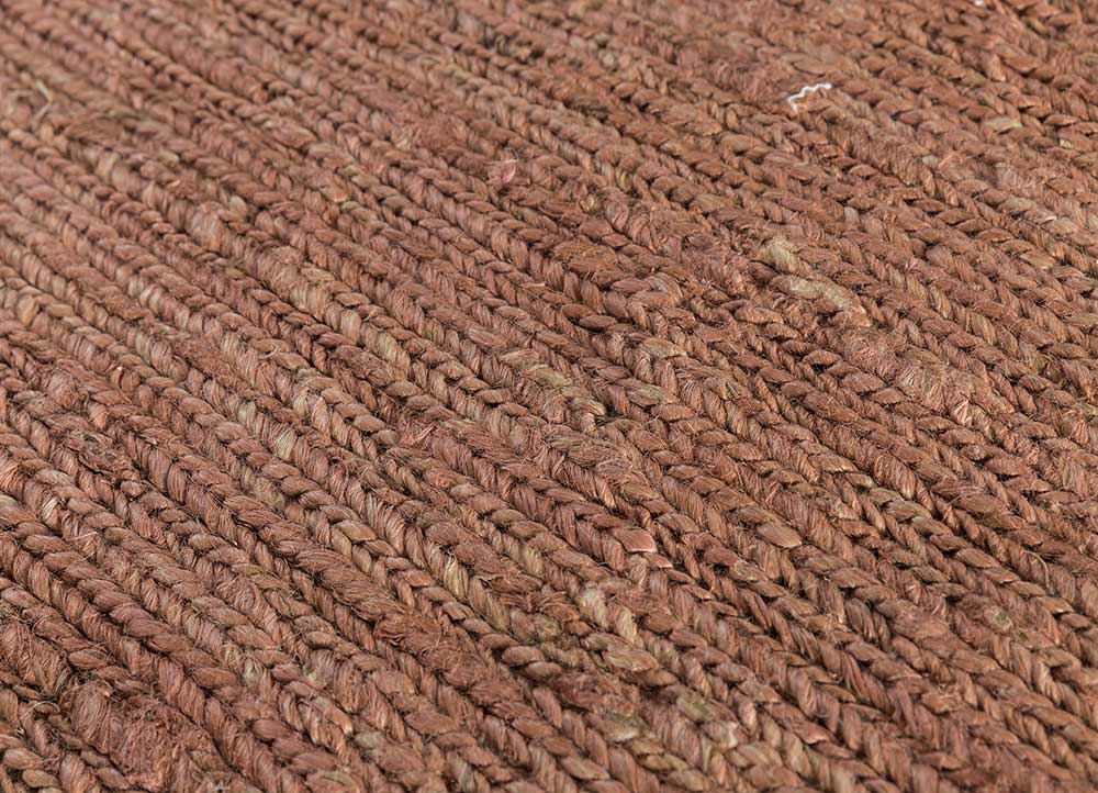 abrash red and orange jute and hemp flat weaves Rug - CloseUp