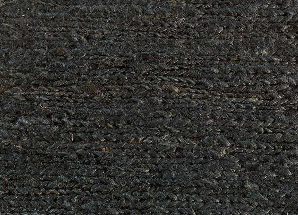 abrash blue jute and hemp jute rugs Rug - CloseUp