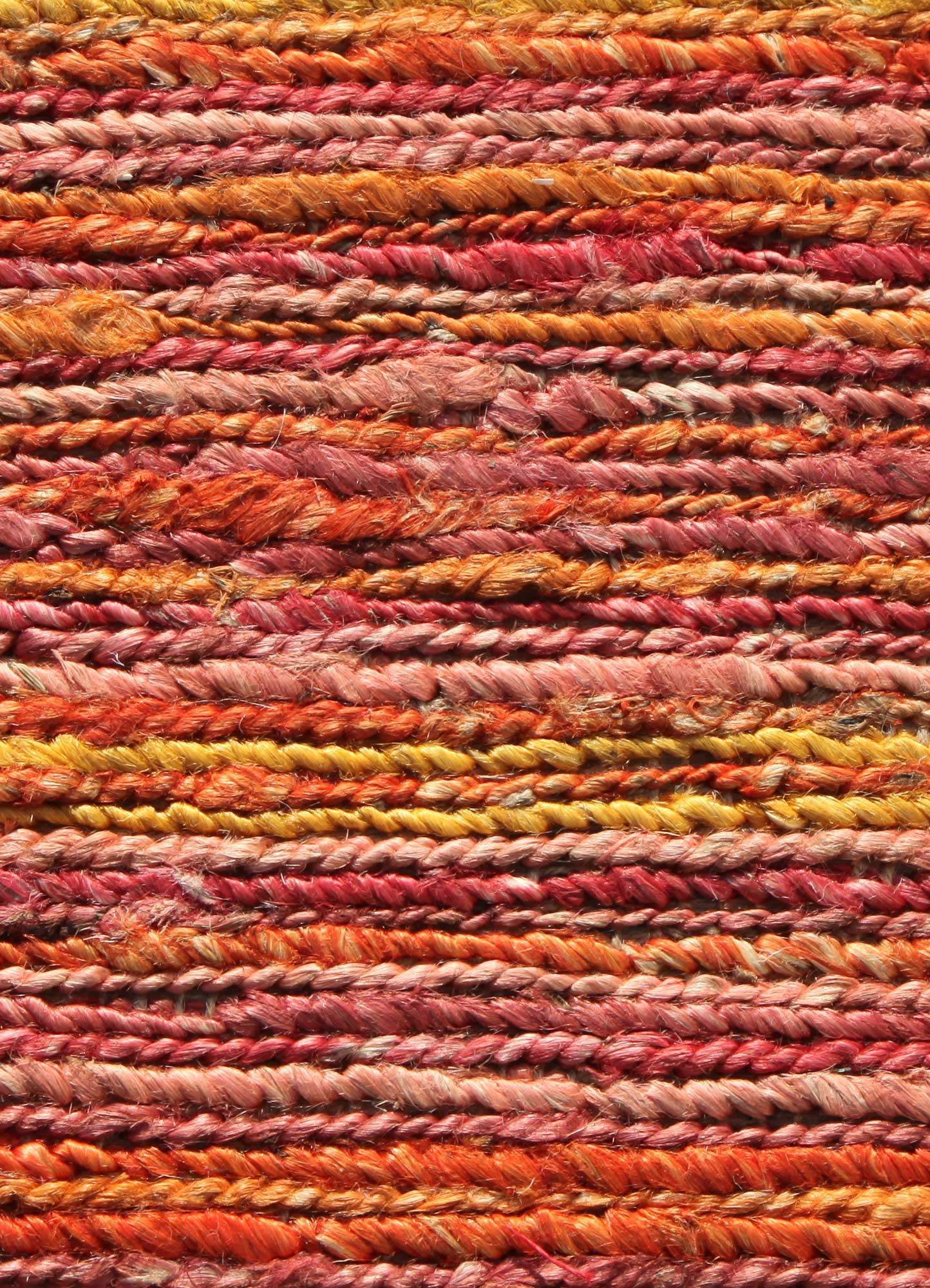 abrash red and orange jute and hemp jute rugs Rug - CloseUp