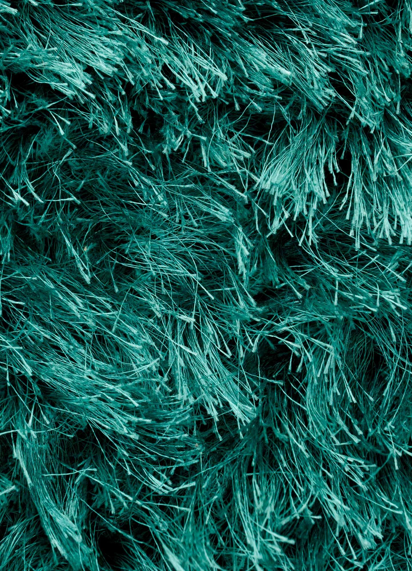 verve blue polyester shag Rug - CloseUp