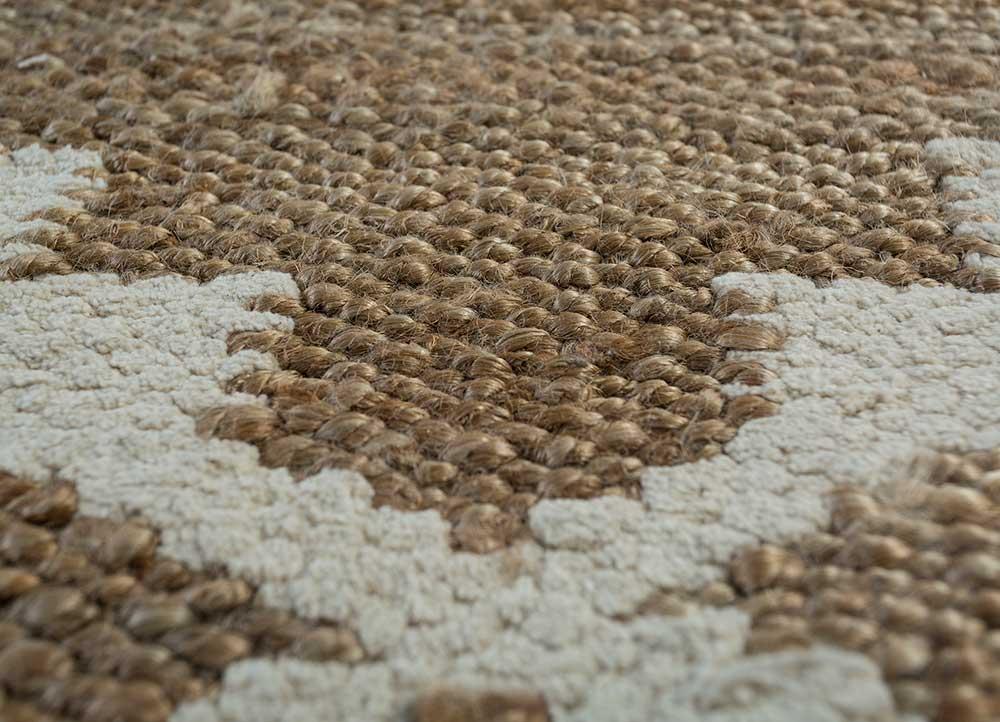 indusbar beige and brown jute and hemp flat weaves Rug - CloseUp