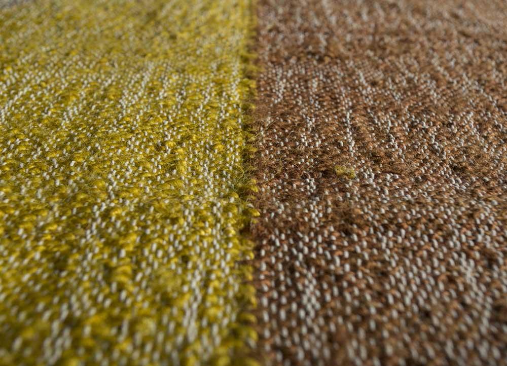 spatial beige and brown jute and hemp jute rugs Rug - CloseUp