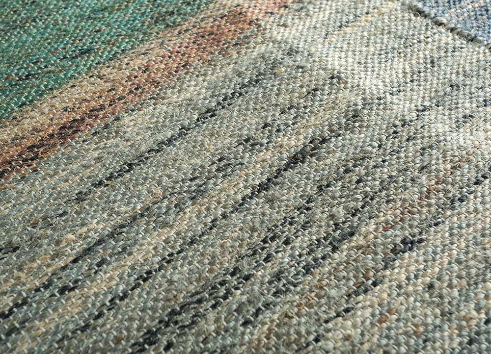 spatial green jute and hemp jute rugs Rug - CloseUp
