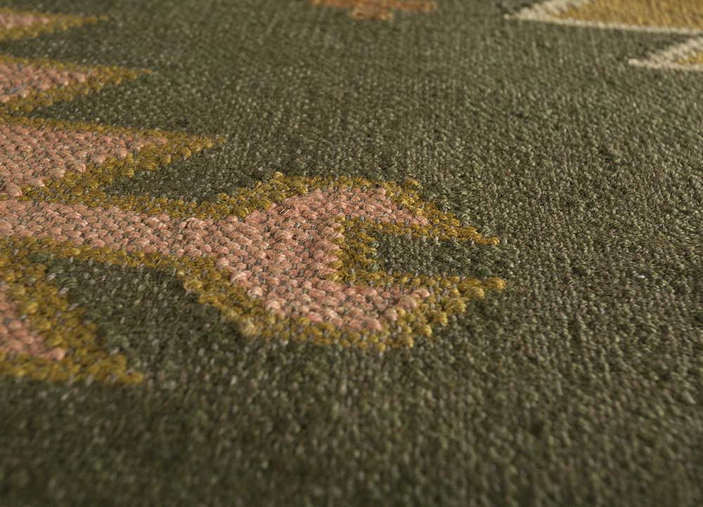 bedouin green jute and hemp jute rugs Rug - CloseUp