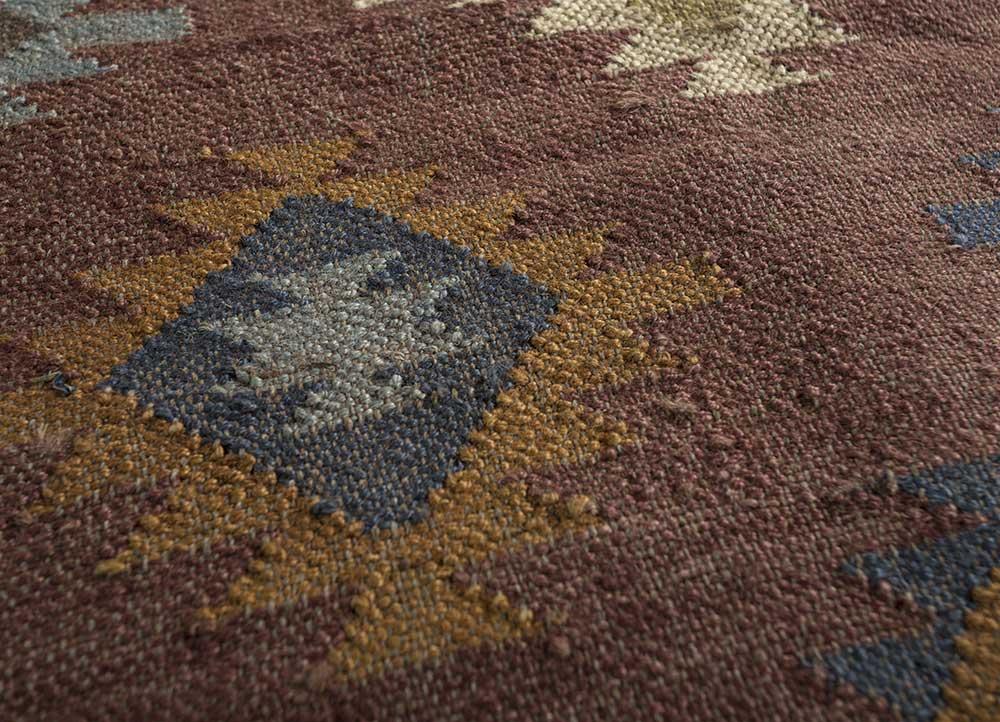 bedouin beige and brown jute and hemp jute rugs Rug - CloseUp