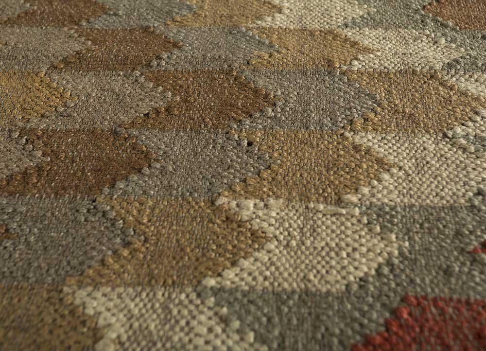 bedouin red and orange jute and hemp jute rugs Rug - CloseUp