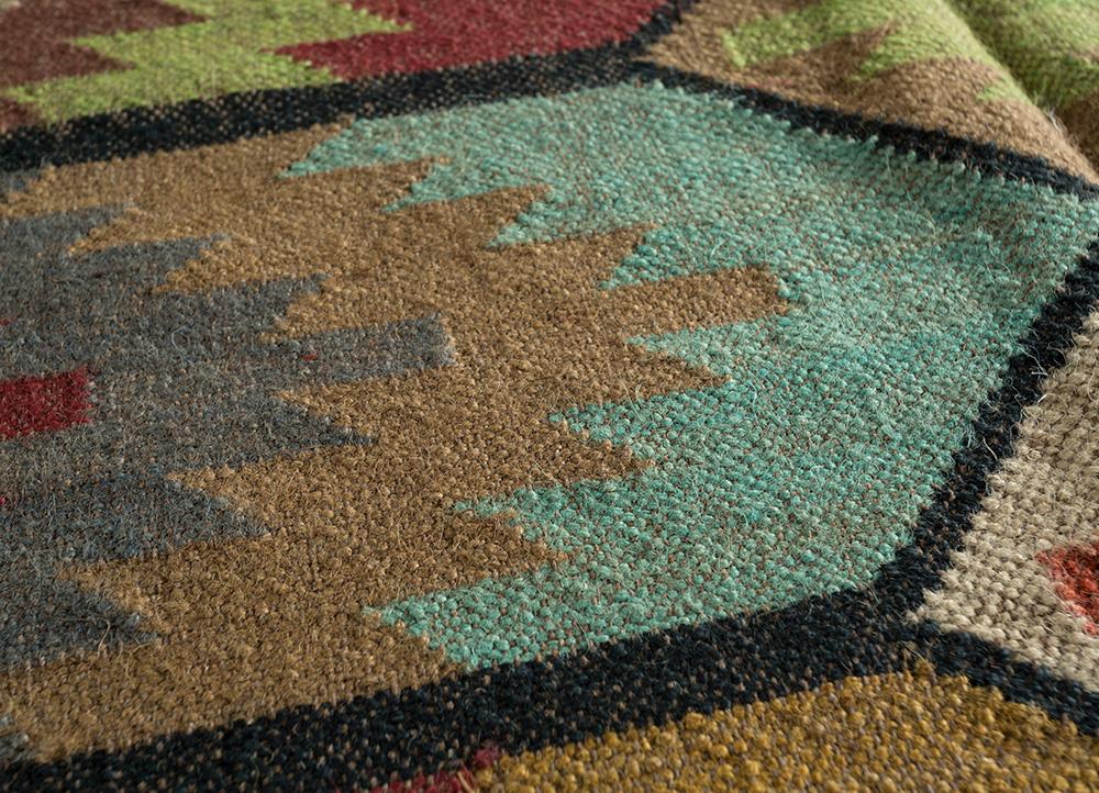 bedouin gold jute and hemp jute rugs Rug - CloseUp
