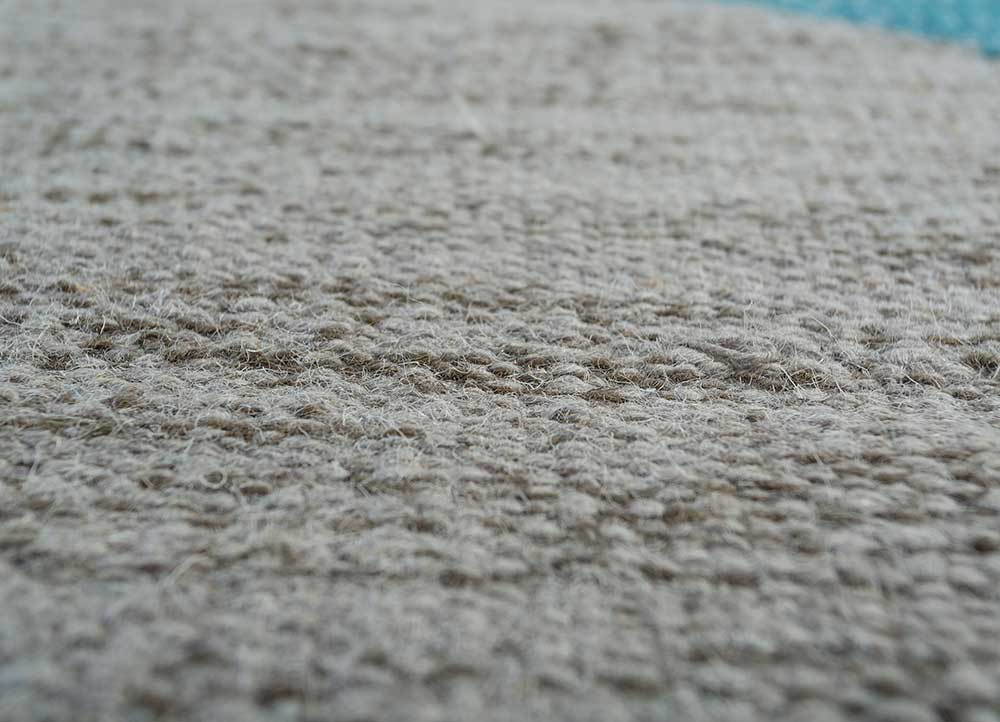indusbar ivory wool flat weaves Rug - CloseUp